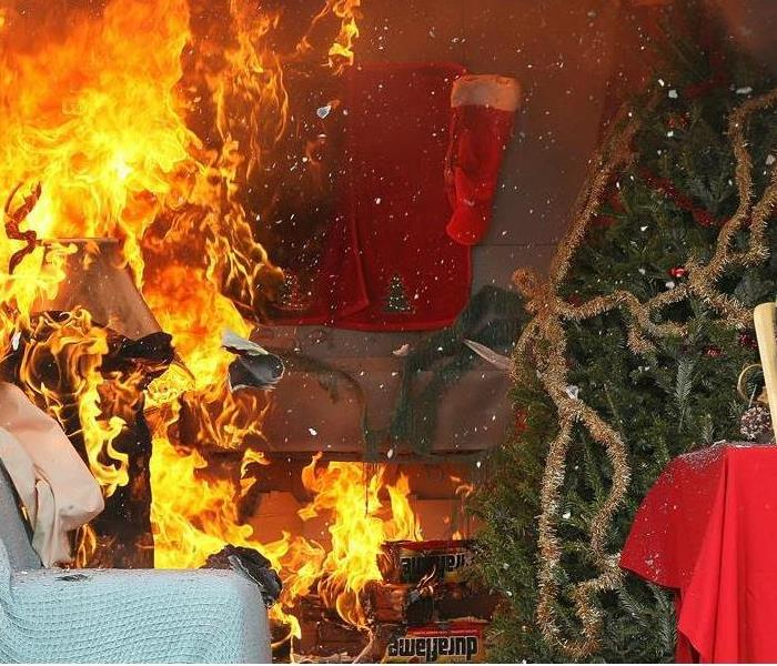 fire relating to a christmas tree